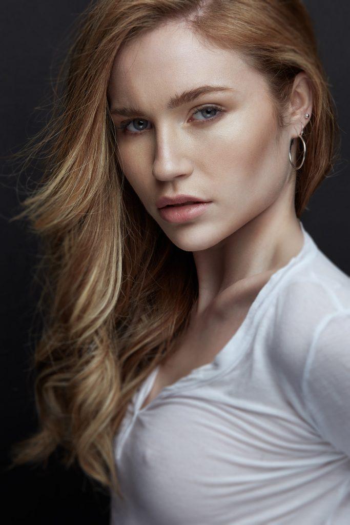 Retrato de modelo tomada por fotografo profesional